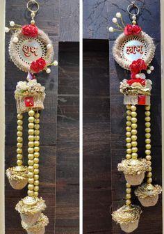 Diwali Decoration Items, Diwali Decorations At Home, Diwali Diya, Diwali Craft, Door Hanging Decorations, House Decorations, Wedding Stuff, Wedding Gifts, Door Hangings
