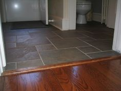 Absolutely, exactly this for the entry way floor tiling. Continental Slate in hopscotch pattern some green - Why for the love of (fill in your deity here) does everything have to be so difficult to find here? Entryway Flooring, Flooring For Stairs, Slate Flooring, Best Flooring, Kitchen Flooring, Flooring Ideas, Hardwood Floor Colors, Hardwood Floors, Foyer Decorating