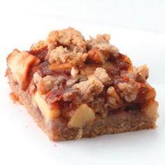 Apple Cinnamon Bars Per bar: 193 calories; 9 g fat ( 2 g sat , 2 g mono ); 19 mg cholesterol; 27 g carbohydrates; 11 g added sugars; 3 g protein; 2 g fiber; 69 ...