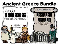 Ancient Greece Bundle: Greek Mythology Close Reading & Ancient Greece Packet
