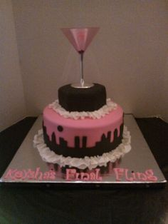 Sex And The City themed bridal shower cake. :o love