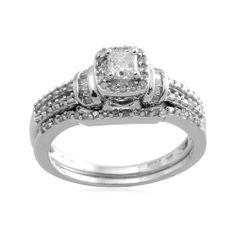 10k White Gold Diamond Bridal Ring (1/2 cttw, I-J Color, I2-I3 Clarity)