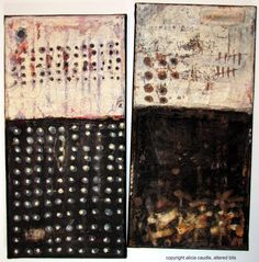 two mixed media pieces, meditation, alicia caudle