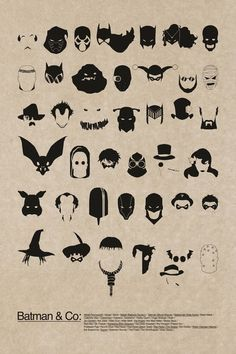 Alfred, Azrael, Bane, Batgirl, Batman, Batwoman, Black Mask, Calender Man, Catwoman, Clayface, Deadshot, Harley Quinn, Professor Hugo Strange, Hush, Jim Gordon, Joker, Killer Croc, Killer Moth, Knight, Mad Hatter, Maxie Zeus, Man-Bat, Mr Freeze, Nightwing, Talon (Court of Owls), Penguin, Poison Ivy, Professor Pyg, Ra's al Ghul, Red Hood (criminal), Red Hood (Jason Todd), Red Robin, The Riddler, Robin, Scarecrow, Squire, Solomon Grundy, Two-Face, The Ventriloquist and Scarface, Victor Zsasz.