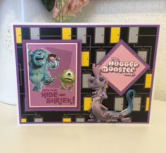 Disney Monsters, Monsters Inc, Lace Design, Frame, Cards, Decor, Picture Frame, Decoration, Map