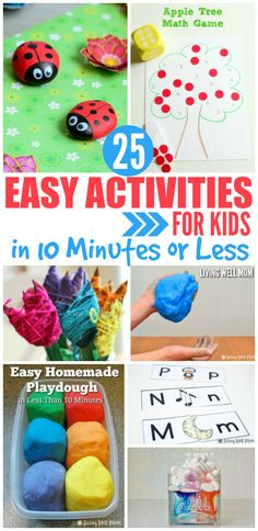 Need a fun activity for the kids, but don't have a lot of time to spend? Here's…