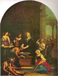 Autor: Bartolomé Esteban Murillo (España) Título: Santa Isabel de Hungría curando a los tiñosos Cronología: 1667 - 1670 Técnica:  Medidas: 325 cm x 245 cm Escuela: Barroco Español Tema: Religión