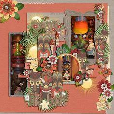 #papercraft #scrapbook #layout. Tiki Gods       Pineapple Paradise Pineapple Paradise Paper Stacks Pineapple Paradise Page Starters Pineapple Paradise Journal Cards Pineapple Paradise Word Art Freebie on my blog