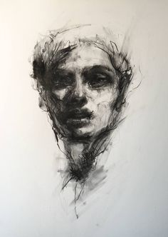 "Saatchi Art Artist Agnes Grochulska; Drawing, ""Portrait #1"" #art"