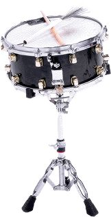 Snare drum with drum sticks