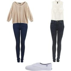 Cute casual outfit,, great for school, party, night with friends.