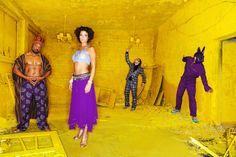 music band Tiger Hifi by foto di matti. Matti Hillig captured the reggae ragga musicians from Berlin in a yellow world. Hair & make-up by Tom Strohmetz. www.foto-di-matti.com