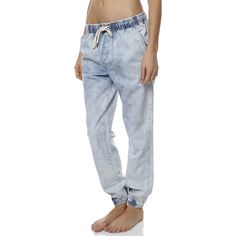 Billabong Drifters Womens Jogger Jean ($36) ❤ liked on Polyvore featuring jeans, pants, coastal, jogger jeans, billabong jeans, billabong, elastic jeans and relaxed jeans