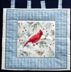 Winter Cardinal Hand Quilted Wall or Window by GrammieJennie, $10.00