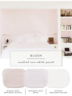 Our the coco kelley Guide to the Best Neutral Paint Colors that AREN'T White | Pink and Blush