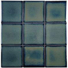 "Essentia 4"" x 4"" Porcelain Field Tile in Sea Blue"