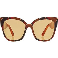 Gucci Square Sunglasses (€359) ❤ liked on Polyvore featuring accessories, eyewear, sunglasses, multicolored, gucci sunglasses, gucci eyewear, colorful glasses, oversized sunglasses and square sunglasses