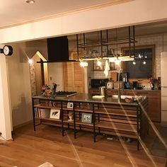 Small kitchen: 70 functional ideas of decoration and projects - Home Fashion Trend Wooden Kitchen, Rustic Kitchen, Kitchen Decor, Custom Kitchens, Home Kitchens, Kitchen Flooring, Kitchen Furniture, Unfitted Kitchen, Small American Kitchens