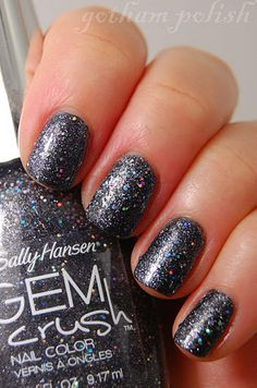Sally Hansen - Gem Crush - Glitz Gal    #sallyhansen #glitter #grey