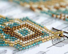 Grano semilla pendientes, cuentas pendientes, cuentas pendientes de nativos americanos, flecos pendientes, joyería de perlas de semilla, pendientes, joyería moldeada