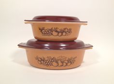 Vintage Pyrex Old Orchard Oval Casserole Set in by GumdropVintage, $34.00