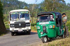 Bus and Tuk Tuk, Hatton, Sri Lanka (www.secretlanka.com) #SriLanka #Hatton #TukTuk