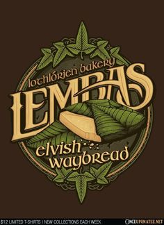 Lembas Bread is available on t-shirts, hoodies, tank tops, and more until 6/13 at OnceUponaTee.net starting at $12! #Fashion #Apparel #lotr
