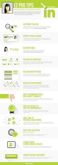 12 consejos profesionales para optimizar tu LinkedIn #infografia #infographic #socialmedia – TICs y Formación