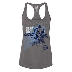 Cult of Fitness Womens She Who Finishes MoistureWicking Tank Top  Sport Graphite Small * For more information, visit image link.