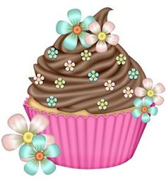 Trendy Ideas for cupcakes illustration printables happy birthday Cupcake Drawing, Cupcake Art, Cupcake Cakes, Love Cupcakes, Yummy Cupcakes, Birthday Cupcakes, Cupcake Clipart, Food Clipart, Frame Floral