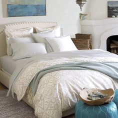 Serena & Lily Bedding Duvet or Set Ventura $180 -- such a cute pattern duvet and totally worth changing my color pallet for :)