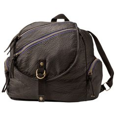 My travel day airport backpack with bright blue zipper lining.  Great for passport, facewipes, laptop etc.  Mossimo Supply Co. Diagonal Zipper Backpack - Black