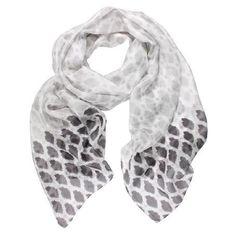 DLUX Grayson Silk Print Scarf - Grey Silk, Grey, Accessories, Fashion, Gray, Moda, Fashion Styles, Fasion, Silk Sarees