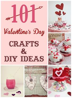 101 Valentine's Day Crafts and DIY Ideas at Susan Tuttle Photography