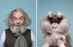 ¿Te pareces a tu gato? Disfruta de este proyecto donde el fotógrafo Gerrard Gethings une a personas con sus dobles gatunos Sphynx, Susan Sontag, Maine Coon, Scottish Fold, Son Chat, Exotic Shorthair, Curious Cat, Cat Memorial, Animals Images