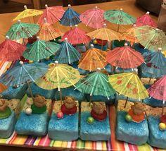 Luau Snacks, Luau Desserts, Luau Food, Beach Theme Food, Luau Theme Party, Party Themes, Party Ideas, Pool Party Treats, Beach Treats