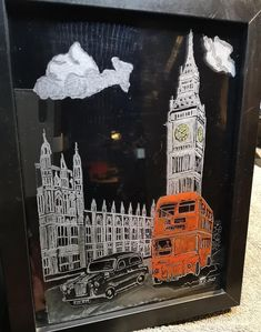 London,  Red Bus, Big Ben, Black cab, Westminster, Glass Engraving, Drill work , Hand made Portland, Black Cab, Picture Engraving, Glass Engraving, Red Bus, Vase, Westminster, Big Ben, Drill