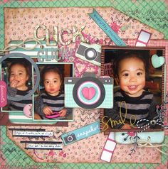 Click! Click! Layout - Tea Break and Happy Days Collection