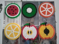 Posavasos frutas hama beads by María Márquez Angulo