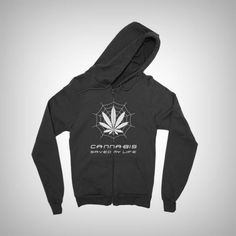 Cannabis saved my life - Zip hoodie - 420 marijuana weed pot cannabis t-shirts sweaters hoodies products apparel bongs vaporizers - 1