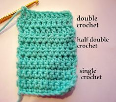 CAL :: Learn half double crochet and double crochet, increasing and decreasing by  Rachel Crochet lesson #2, coming right up! How are we do...