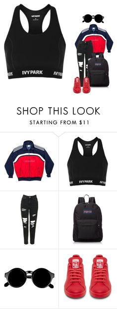 """""""mannequinxo x I want you all to myself, I swear // RiRi"""" by xoflawlessmannequinxo ❤ liked on Polyvore featuring adidas, Topshop, JanSport and Retrò"""