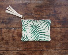 Hey, I found this really awesome Etsy listing at http://www.etsy.com/listing/169659452/wild-fern-mini-zipper-clutch