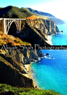 Bixby Bridge collage California photography tiltshift