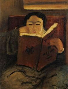 ✉ Biblio Beauties ✉ paintings of women reading letters & books - André Derain