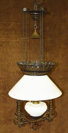 Antique Piano/Organ Oil Floor Lamp Brass/Onyx mid to late 1800's ...