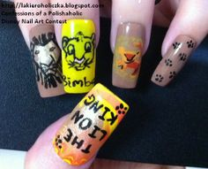 OK!!! I'M CONFLICTED!! what board do I post this to!??? Nails or The Lion King!!!???? Any way LOVE!!!