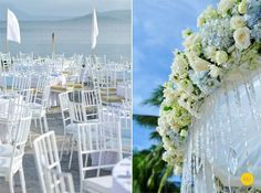 love this flower & crystal canopy for the couples table