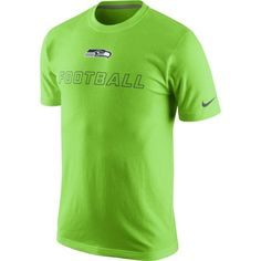 Nike Seattle Seahawks Training Day T-Shirt - Neon Green 26bf1b794