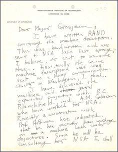 """Desclasificada una """"profética"""" carta sobre criptografía de John Nash a la NSA, vía @gaussianos"""